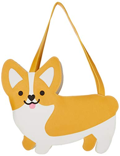 True Zoo 7090 Corgi Cooler Tote, Yellow and White, Set of 1