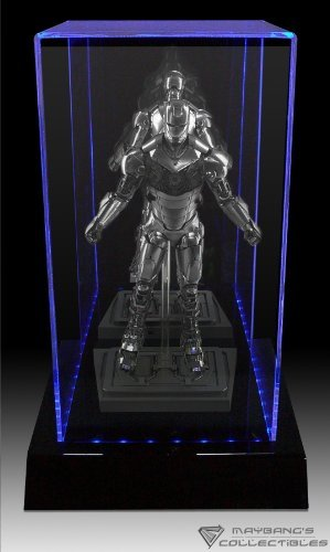 Amazon Com Maybang 3 Color Led Lighted Display Case For Hot Toys 12