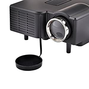 """Rienar 60"""" Portable Mini Hd LED Projector Cinema Theater,Support PC Laptop HDMI VGA Input and SD + USB + AV Input,for iphone,galaxy,laptop,mac.with Remote Control ,Only for home"""
