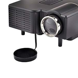Rienar 24W Mini Multimedia LCD Image System LED Projector with SD / USB / AV / VGA /HDMI Port