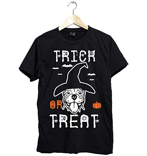 Amazing Pitbull Halloween Trick or Treat Unisex Shirt Gifts Funny Fast Shipping Size Up To 6XL