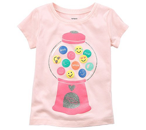 Carter's Baby Girls' Short Sleeve Gumball Machine Emoji Tee 9 Months ()