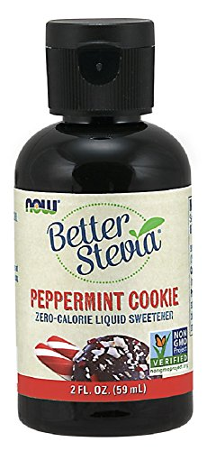 NOW Foods BetterStevia Liquid, Peppermint Cookie Flavor, 2-Ounce