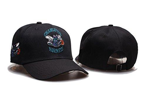 otte Hornets NBA Mens Team Logo Sport Baseball Cap Adjustable Plain Hat (One Size, Charlotte Hornets14) ()