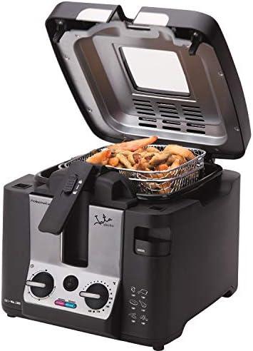 Jata FR1045 Professionele friteuse serie met 25 l inhoud zeer snel mand met inklapbaar handvat filter in het deksel 2800 W 100 afneembaar