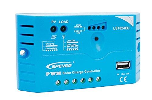 EPsolar LS1024E PWM 10A Solar Panel Regulator Solar Charge Controller 12V Auto Work LED Display for Off Grid Battery Charging(LS1024EU) anancooler