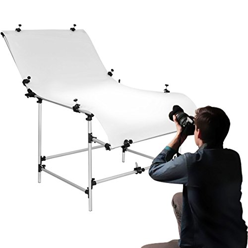 Safstar Photo Shooting Table PVC Board Non-Reflective Photo Studio Bench (39''x78'') by Safstar