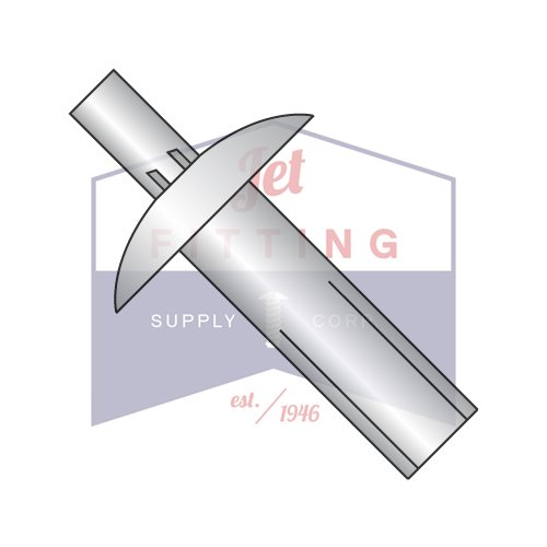 1/4X1/2 Drive Pin Rivets | Metal to Metal | Brazier Head | Body: Aluminum Alloy (all diameters) | Pin: 302 Series Stainless Steel (1/9 diameter); Aluminum Alloy (3/16 thru 3/8'' diam) (QUANTITY: 1000)
