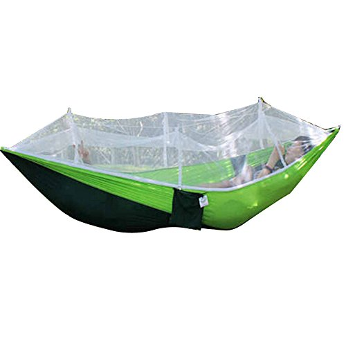 Camping Hammock With Mosquito Net, WinnerEco Portable Outdoor Fabric Camping Hanging Hammock Mosquito Net Parachute Bed