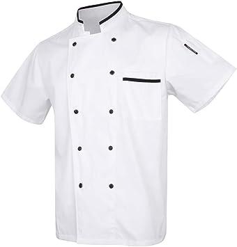 B Baosity Uniforme de Chef Ropa de Cocinero Camisa de Transpirable Chaqueta de Negro Diseño de Moda Cosplay - 4: Amazon.es: Bricolaje y herramientas