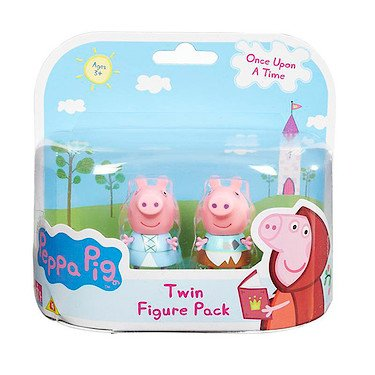 Peppa Pig Once Upon A Time Twin Figure Pack- Princess Peppa & Peppa In Rags (Dispatched From UK)