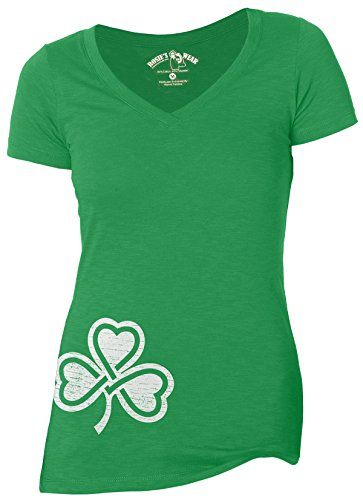 SHAMROCK WOMEN'S V-Neck T-Shirt / Irish / St. Patrick's Day NEW /Fashion (X-large) - St Patricks Day Shirts For Women