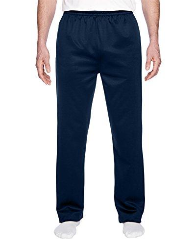 Jerzees Dri-Power Sport Men's Pocket Open Bottom Sweatpant, J. Navy, XX-Large