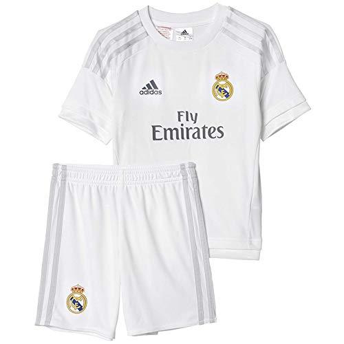 adidas Performance Boys Kids Real Madrid Home Football Mini Kit - White - 2XS - Madrid Home Kit