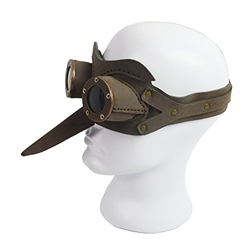 Daft Punk Out Of Costume (JACKDAINE Steampunk Plague Bird Mouth Goggles Halloween Ball Mask)