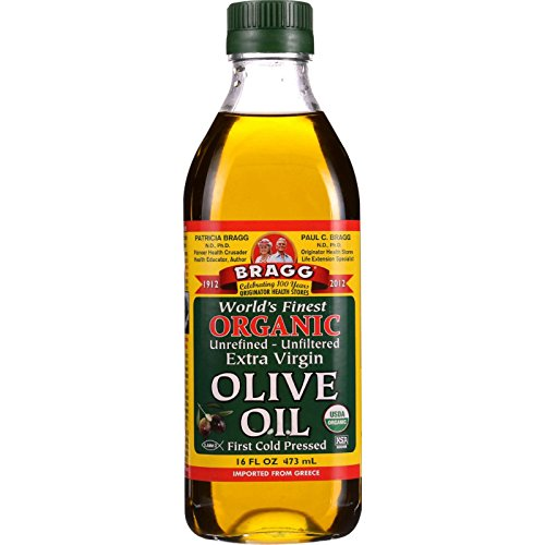 Bragg Olive Oil - Organic - Extra Virgin - 16 oz - 1 each - 95%+ Organic - - - - -