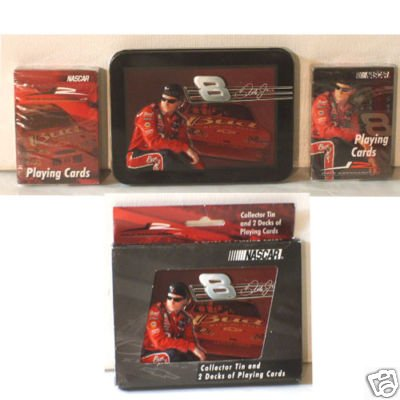 - The U.S. Playing Card Co. Dale Earnhardt Junior Jr #8 Budweiser Bud Playing Cards in a Collectible Tin with 2 Decks of Sealed Cards