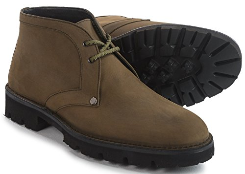A.testoni Made In Italy Boot Chukka In Pelle Di Vitello Ranger (muschio, 11 Us)