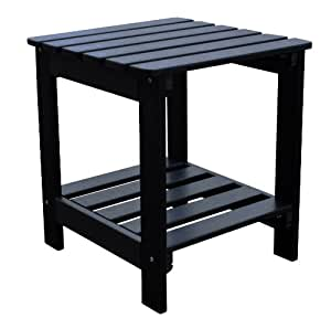 shine company synthetic square side table black patio side tables garden outdoor. Black Bedroom Furniture Sets. Home Design Ideas