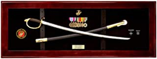 product image for flag connections USMC NCO Sword Display Case, Sword Cases, Marine Sword Frame