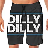 Custome Men's Beach Pants Dilly Dilly Bud Light Quick-Drying Casual Shorts with Pockets Swim Trunks for Man Boys