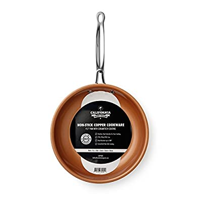 "California Home Goods 9.5"" Non-Stick Oven Safe CermiTech Frying Pan"