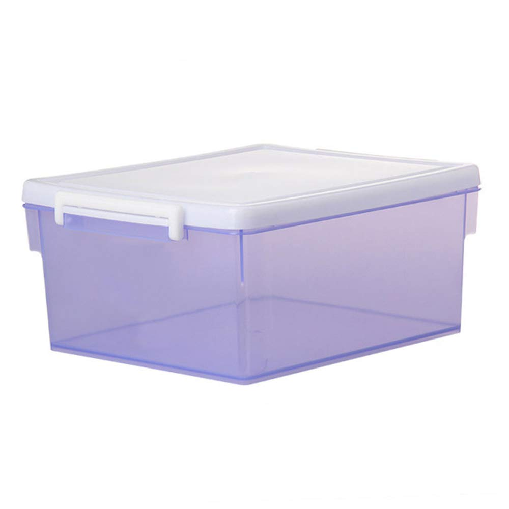 MYQ 収納ボックス 収納ボックス、2ロードされた家庭の収納ボックスプラスチック厚い収納ボックスの服のおもちゃの化粧品の収納ボックス 化粧品収納ボックス (色 : 紫の) B07QSH5TDD 紫の