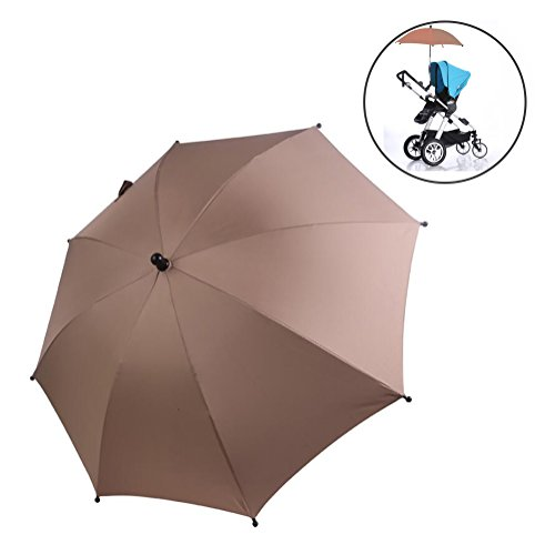 Buggy Sun Protection - SLC Baby Stroller UV Protection Clip-On Umbrella Stand Holder 360 Degrees Adjustable Sun Canopy Parasol for Pram Cycling Bicycle Wheelchair PushChair buggy