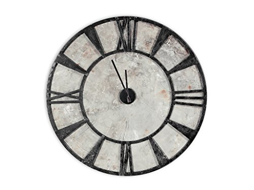 Empire Art Direct Empire Art Calceferro Collection Hand-Painted Concrete and Iron Modern Wall Clock Décor