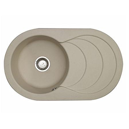 Astracast Cascade 1.0 Bowl ROK Granite Kitchen Sink in Sahara Beige ...