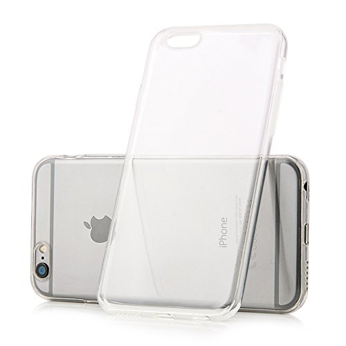 iPhone 6 6s (4,7 Zoll) Hülle TPU transparent Simple Case Schutzhülle Silikon Crystal Clear Case ultra thin iphone6 iphone6s MC24 in weiß