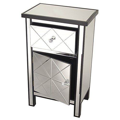 32.7 x 20 Silver 32.7 x 20 W192088-SILVR Heather Ann Creations Traditional Accent Console with Front Beveled Mirrored Finish