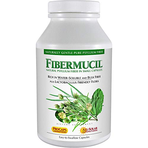 Andrew Lessman Fibermucil 60 Capsules –Psyllium Husk Powder. Gently Promotes Regularity and Digestive Health. Rich in Fiber. Gentle, Easy and Effective. No Additives. Small Easy to Swallow Capsules