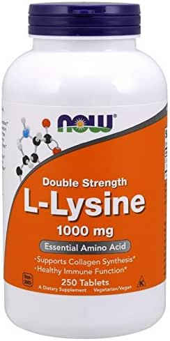 NOW L-Lysine 1000 mg Double Strength,250 Tablets