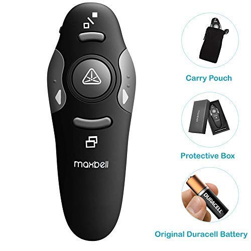 4. LMaxbell USB Wireless Remote Control Professional Laser Pointer Presenter Slide Changer Controller Powerpoint PPT Pen Presentation Clicker Projector (Free Duracel Battery)