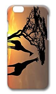 MOKSHOP Adorable Giraffes in Sunset Hard Case Protective Shell Cell Phone Cover For Apple Iphone 6 Plus (5.5 Inch) - PC 3D by icecream design