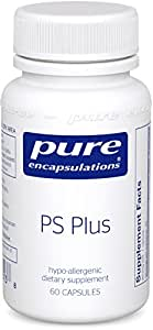 Pure Encapsulations - PS Plus - Hypoallergenic Formula for Memory, Mental Processing and Overall Cognitive Function* - 60 Capsules