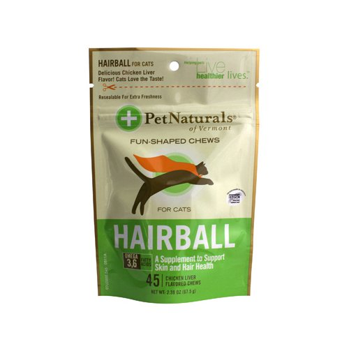 Pet Naturals of Vermont Hairball Prevention for Cats Chicken Liver - 45 Soft Chews