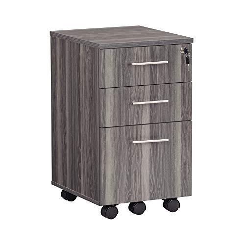 Mayline Modern Desk - Safco Products MNBBFLGS Medina File Pedestal, Gray Steel, Gray Steel