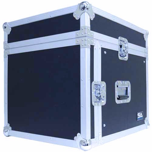 Seismic Audio - SAMRC-8U - 8 Space Rack Case with Slant Mixer Top - PA/DJ Pro Audio Road Case by Seismic Audio