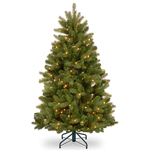- National Tree 4.5 ft. Newberry Spruce Tree with Dual Color LED Lights, Green