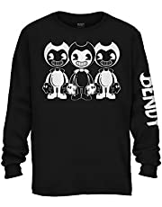 Bendy and the Ink Machine Shirt - Official Bendy Long Sleeve T-Shirt - Bendy Boys Long Sleeve T-Shirt