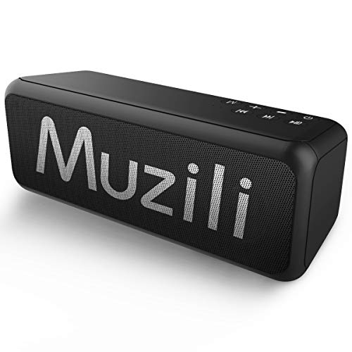Muzili Bluetooth Speakers, Portable Wireless Speakers with Bluetooth Loud Stereo Sound, IPX5 Waterproof Bluetooth Wireless Speaker Support TF Card/AUX for Home Travel Indoor Outdoor