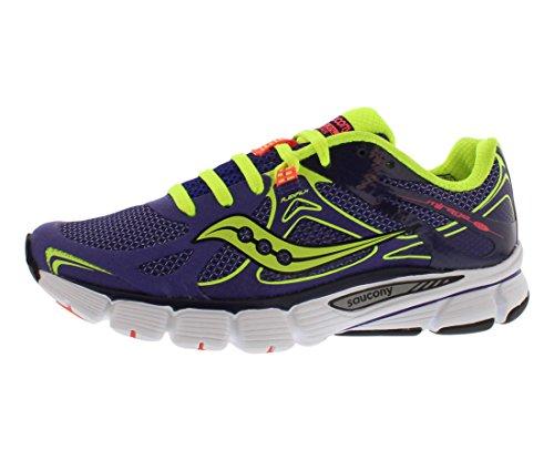 Saucony Women's Mirage Running Shoe,Purple/Citron/Vizicoral,9.5 M US