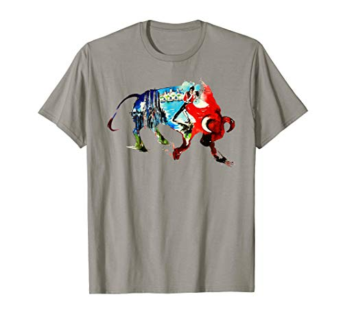 Spain Bull Vintage Travel Love Watercolor T-Shirt (Best Clothing Stores In Spain)
