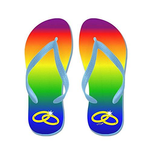 Cafepress Regenboog Huwelijk - Flip Flops, Grappige String Sandalen, Strand Sandalen Caribbean Blue