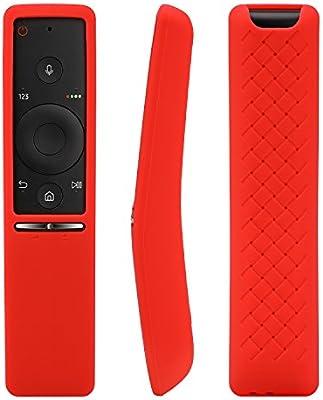 AKWOX [2-Unidades Funda para Mando de Smart TV Samsung,Silicona Carcasas para el Mando Samsung 4K UHD Smart TV Rosa Roja: Amazon.es: Electrónica