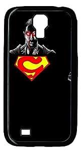 Samsung Galaxy S4 Case, S4 Case - Extreme Protection Black Hard Case Bumper Samsung Galaxy S4 I9500 Superman Evil P Customized Hard Case for Samsung Galaxy S4 I9500