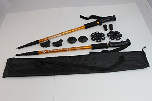 Two Trekking Walking Hiking Sticks Poles Alpenstock anti-sho