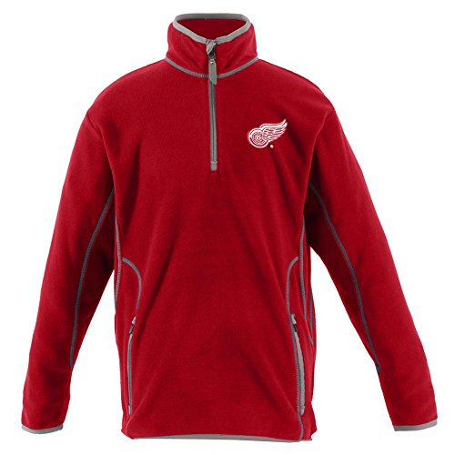 Detroit Red Wings YOUTH Unisex Ice Polar Fleece Pullover (Color: Red) - (Antigua Detroit Red Wings Jacket)